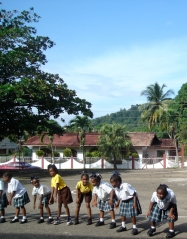 dancing with youth in Carenage, Trinidad